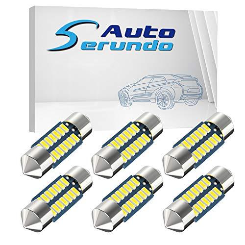 Serundo Auto DE3175 Led Festoon Bulb, 31mm 1.22in DE3022 Led ,Super Bright Interior Led Festoon Used for Car Map Light Dome Light etc ,Pack of 6pcs. Measure the length of your original bulb.