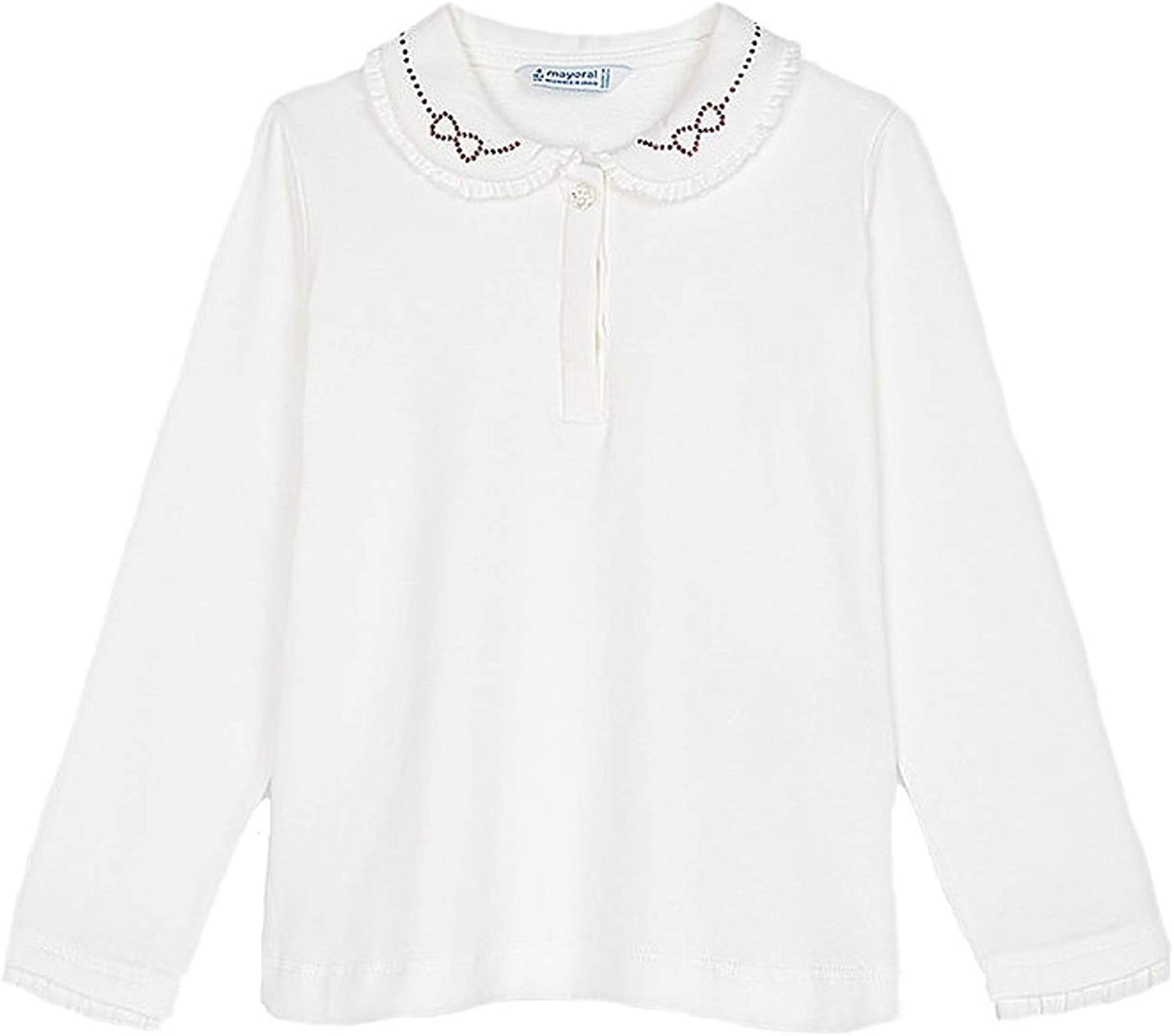 Mayoral - L/s Basic Polo for Girls - 0131, Natural-ca
