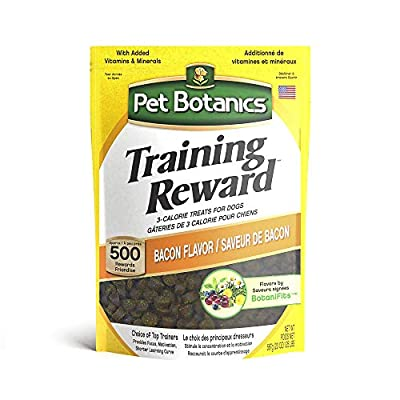 Pet Botanics Training Rewards Treats for Dogs, Made with Real Pork Liver, Focuses, Motivates, Rewards, Speeds Up Learning Curve, No BHA, BHT, Ethoxyquin, Bacon, 20 oz by Cardinal Laboratories