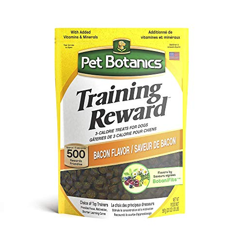 Pet Botanics Training Rewards Treats for Dogs, Made with Real Pork Liver, Focuses, Motivates, Rewards, Speeds Up Learning Curve, No BHA, BHT, Ethoxyquin, Bacon, 20 oz (1 pack)