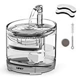 NPET Water Fountain for Cat Dog, Faucet Transparent Drinking fountain with Super Quiet Pump, Drinking Bowl with Replacement Activated Carbon Filter, 1.5L Capacity WF050TP