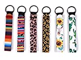 6 Pack Neoprene Wristlet Keychain, Hand Wrist Lanyard Keychain for Girls/Women