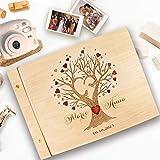 Guestbook matrimonio, in legno, personalizzato, nomi degli sposi e la data, album famiglia per foto, idea regalo per gli anniversari, l'albero della vita.