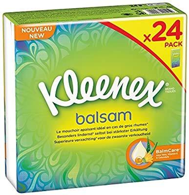 Kleenex Balsam Taschentücher Pocket (24 x 8 Tücher), 8 Stück