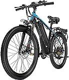 Bicicleta de carretera de la ciudad de cercanías, Eléctrica de bicicletas de montaña, 400W 26 '' a prueba de agua de la bicicleta eléctrica con extraíble 48V 10.4AH de iones de litio for los adultos,