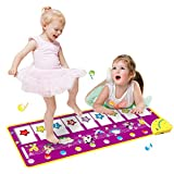 GAOYANZI Piano Musical Mat, Kinder Piano Playmat Touch Play Keyboard Musical Teppich Groß 39,37 * 14,17 Zoll Lustige Tanzmatte Pädagogische Musik Spielzeug Für Kleinkinder Babys Jungen