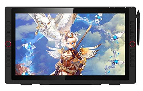 Xyfw Monitor De Tableta Gráfica Pantalla De Tableta De Dibujo Digital con Teclas De Acceso Directo De Inclinación Y Soporte Ajustable Pantalla De 21.5 Pulgadas Resolución De 1080P