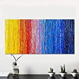 N / A Abstract Oil Painting Colorful Pattern Canvas Art Wall Picture For Living Room Home Decoration Frameless 12X24 cm