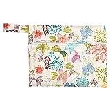 Serviettes hygiéniques réutilisables - tampons menstruels en tissu lavable/protège-slips pour femmes Sac humide lavable(Apple Green)