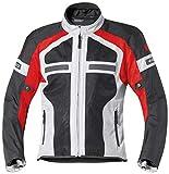 Held Chaqueta de motorista con protectores Tropic II, chaqueta textil gris/rojo, XXL, para hombre, Tourer, todo el año