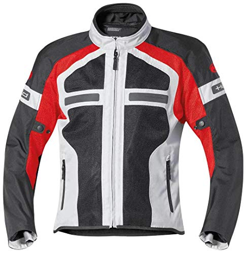 Preisvergleich Produktbild Held Motorradschutzjacke,  Motorradjacke Tropic II Textiljacke grau / rot 4XL,  Herren,  Tourer,  Ganzjährig