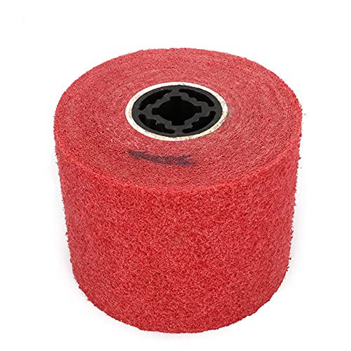 Rueda de pulido de pulido de 5 x 4 x 0,8 pulgadas, rueda de pulido de alambre de aleta abrasiva no tejida, rueda de dibujo de alambre para máquina pulidora grano 240 #