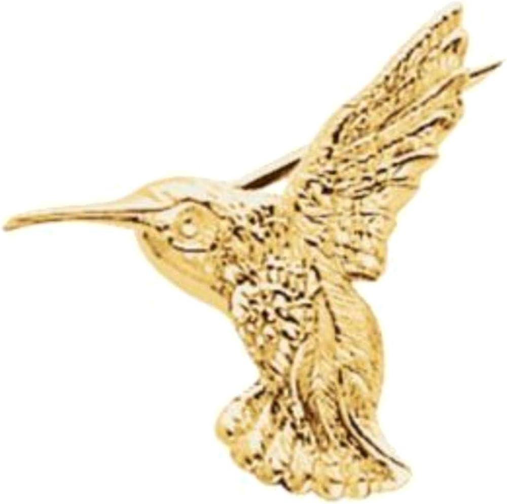 low-pricing 10k Yellow Gold 19x21 Brooch Max 74% OFF mm Hummingbird