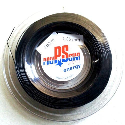 Tennissaite Polystar Energy Schwarz; 1,30mm; 200m Rolle