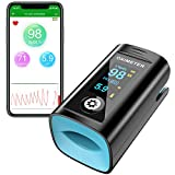 Konsun Bluetooth Pulse Oximeter Fingertip SpO2 Blood Oxygen Saturation Monitor HSevenhills Organics Incan/Golden Berries 500g, Certified (Black) (Black)