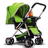LMZJLU Cochecito, Cochecito Baby Push Lite Shopper Neo Asas Ajustables Cochecito Cochecito Edad 18 Meses - 3 Años (Color: Verde), Color: Rojo (Color: Verde)