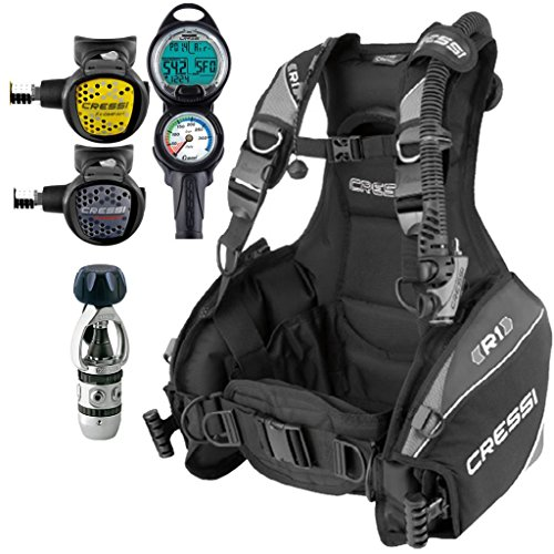 Cressi R1 BCD Scuba Gear Package