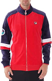 Fila Men's Camden Velour Track Jacket, Red