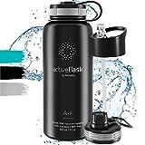 Trinkflasche Edelstahl ACTIVE FLASK + 3...