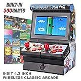 Mini Machine de Jeux d'arcade, 300 Jeux Portables Classiques Nouvelle Machine Portable FC pour Enfants avec écran LCD protégé des Yeux de 4,3', 8 Bits