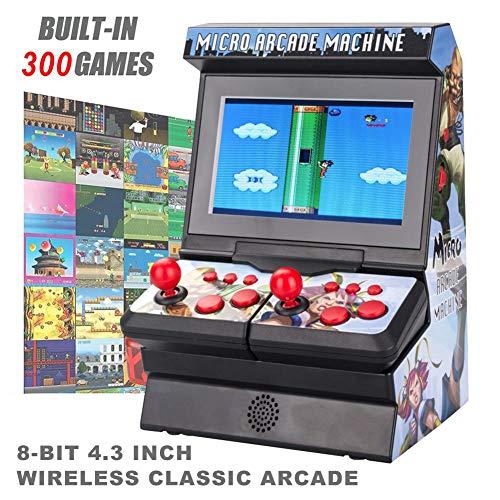 LiuXi Mini-Arcade Máquina de Juegos portátil Juego inalámbrico de Pantalla Grande Neutral Auricular Consola para Hombres