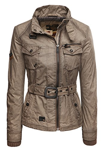 Khujo Damen Jacke Caro 1627JK153 brown sprayed M