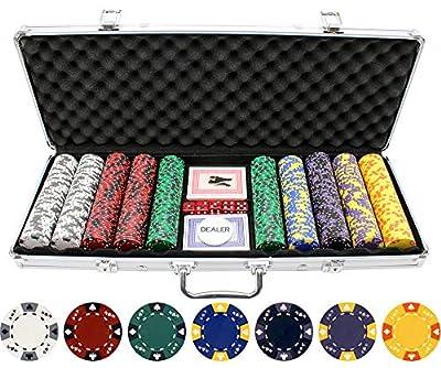 Versa Games 13.5g 500pc Ace King Poker Chip Set