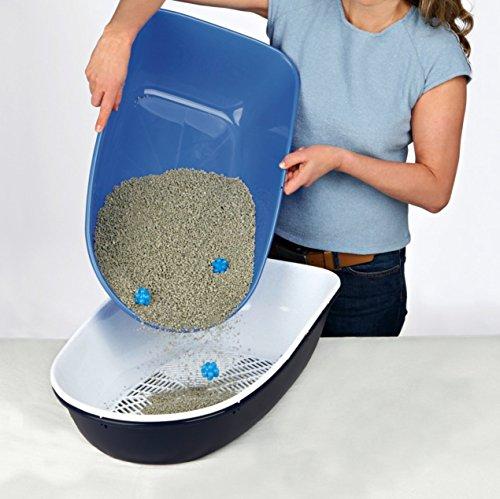 Trixie 40152 Berto Katzentoilette, 39 × 22 × 59 cm, hellblau/dunkelblau/granit - 3