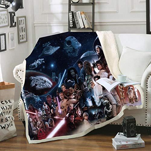 Manta de Star Wars – 3D Star Wars – Manta – Ultra-Soft Micro Fleece Blanket – Travel Camping – para niños y adultos (No 150 x 200 cm)