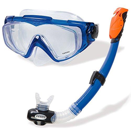 Intex Aqua Sport Tauchset - Schnorchel und Maske - Latexfrei - Blau