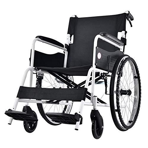 YLKCU Rollstuhl, Rollstuhlklappbare leichte Speichenräder aus Kohlenstoffstahl für ältere und behinderte Menschen