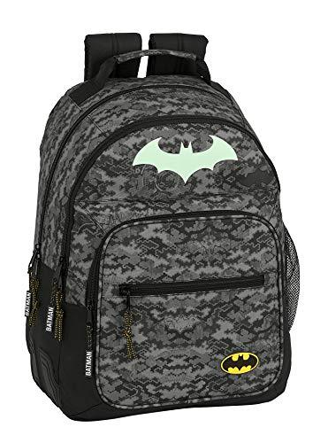 Mochila Safta Escolar de Batman Night  320x150x420mm  Gris Negro