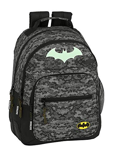 Mochila Safta Escolar de Batman Night, 320x150x420mm, Gris/Negro