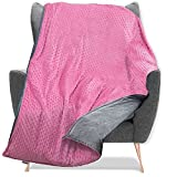 Quility Weighted Blanket for Kids and Toddlers with Soft Cover - 5 lbs Single Size, Heavy, Machine Washable Quilt, Heating & Cooling - (36' X 48') (Pink)