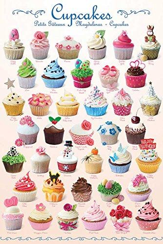 empireposter Cupcakes - Sweet Line - Küche Haushalt - Poster Plakat Druck - Größe 61x91,5 cm