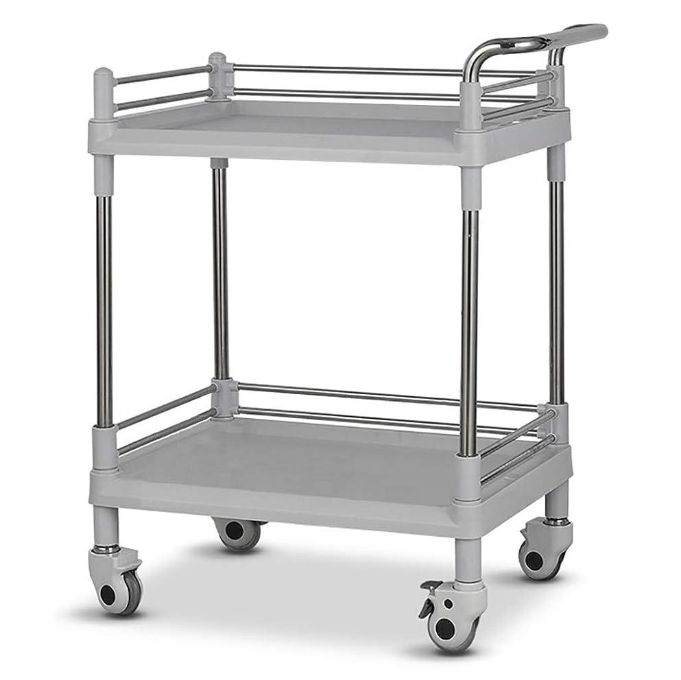 サラミ永久に冗長美容院の医学の移動式カート、多機能の器械用具の変更の薬車のプラスチックステンレス鋼の棚 (サイズ さいず : 64.5*44.5*90cm)
