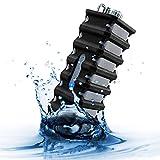 Gogroove Altavoz Bluetooth Impermeable Resitente al Agua y a los Golpes, Portátil y Recargable, con Micrófono y Manos Libres - Compatible con One Plus 5 iPhone 7 Huawei P10 Samsung y Otros