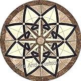 Mesa redonda de mármol para patio con Pietra Dura Art decente hecha a mano para muebles de hogar de 30 pulgadas