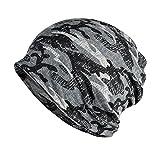 KISSTYLE 帽子 メンズ レディース ニット帽 薄手 オールシーズン 迷彩 カモフラ (ウッドランドE)