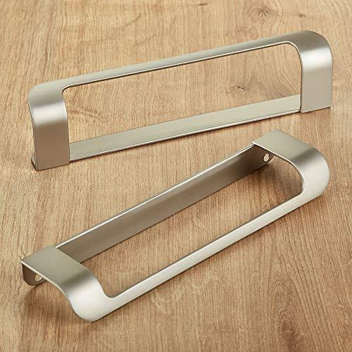 2 piezas Junker Design Tirador de Muebles LYS Distancia Agujeros 160 mm Acabado en Acero Fino Mate para Armarios, Cajones y Puertas