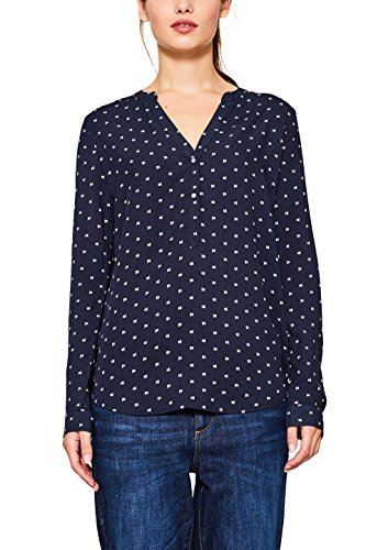 edc by ESPRIT Damen 107CC1F008 Bluse, Blau (Navy 400), Large