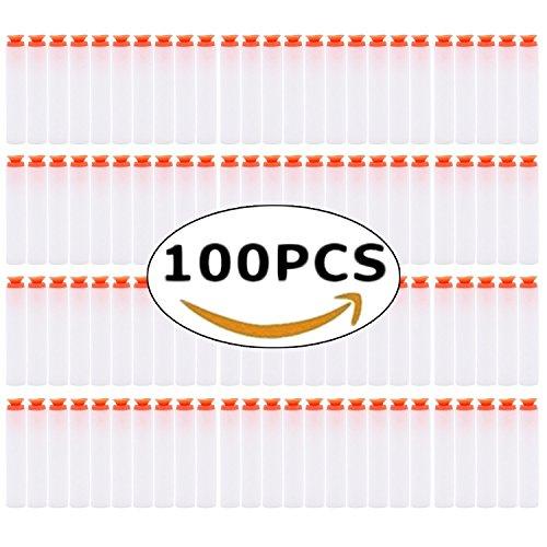 Aohro 100pcs Darts für Nerf N-Strike Foam Darts Refill Bullets für Nerf N-Strike Elite Series Blasters Kinder Spielzeug Gun (100, Saugnapf Darts-White100pcs)