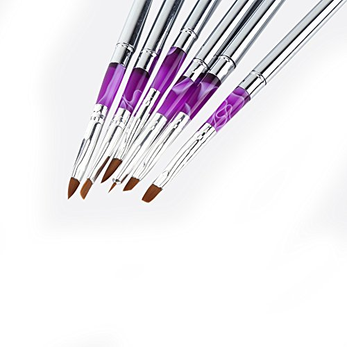 Nail Gel Pen Nail Painting Brushes Painting Brush Nail Carving Brush Nail Art Brush Painting Pen Brush for Nail Salon for Manicure Art for Home