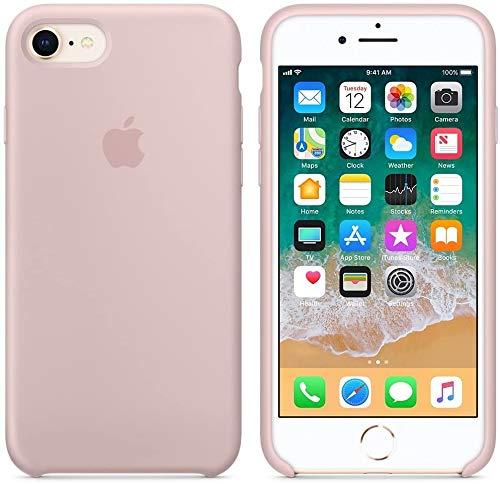 DICAS MOBILE Funda de Silicona para iPhone 7/8, Silicone Case, máxima Calidad, Textura Suave, Forro Interno Microfibra… (Rosa Arena)