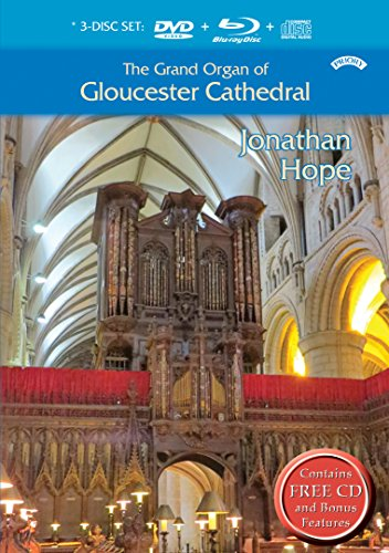 The Grand Organ of Gloucester Cathedral, played by Jonathan Hope (All-regions BD/NTSC DVD/Bonus CD) [Reino Unido]