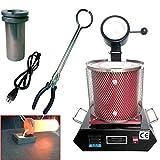NOPTEG 3KG Gold Melting Furnace 1150℃/2102 ℉Digital Melting Furnace Machine...