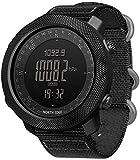 LQQZZZ Reloj Inteligente de los Hombres, Reloj táctica Militar Impermeable con retroiluminación...