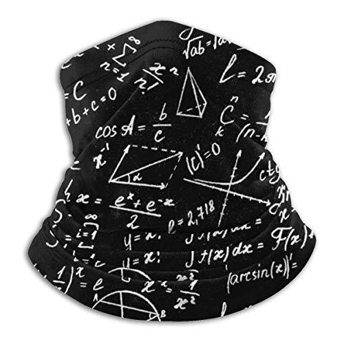 Calentador de Cuello Una ecuación de fórmula matemática Calentador de Cuello Pasamontañas a Prueba de Viento Capucha de Lana Sombreros de Invierno UV Gratis
