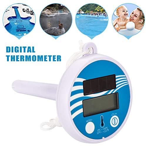 Kohyum Termómetro de Piscina Solar, termómetro de Piscina analógico a Prueba de Agua para Piscinas y spas al Aire Libre e Interiores