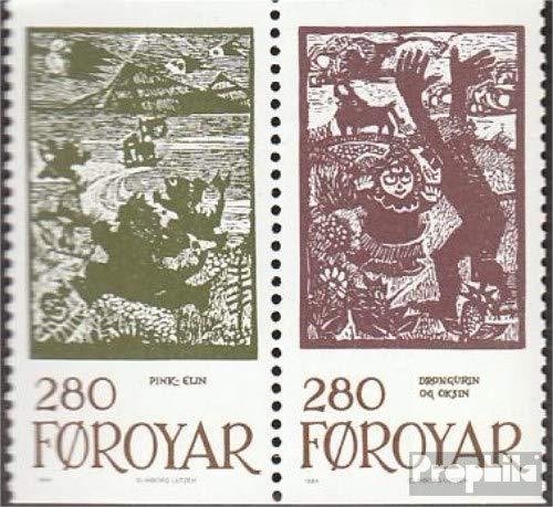 Prophila Collection Dänemark - Färöer W13 (kompl.Ausg.) 1984 Märchenillustrationen (Briefmarken für Sammler) Kultur